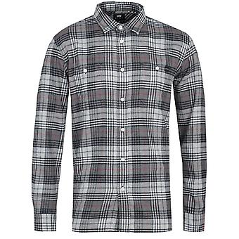 Edwin Labour Grey Long Sleeve Shirt