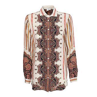 Etro 190339007990 Frauen's Multicolor Seide Shirt