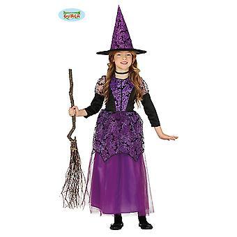 Lila Hexe Halloween Kostüm Kinder Mädchen