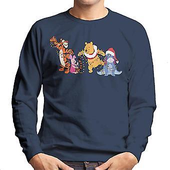 Disney Christmas Winnie Brumm og venner Xmas Lys Menn's Sweatshirt
