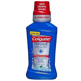 Enjuague de dolor de boca de peroxilo, limpiador oral antiséptico, menta, 8 oz *