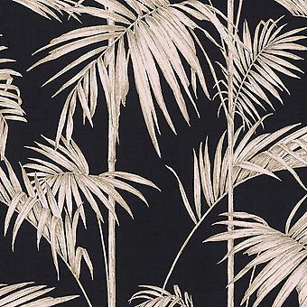 Lola Paris Palm Motívum Háttérkép Fekete / Pink AS Creation 36919-1
