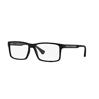 Emporio Armani EA3038 5063 Black Rubber Glasses