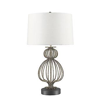 1 Lampa stołowa Srebrna, E27