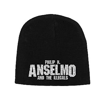 Phil H Anselmo & The Illegals Beanie Hat Logo new Official Black Unisex