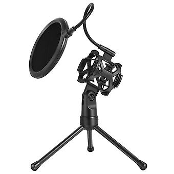 Universal Microphone Stand Holder Bracket Mic Stand- Professional Desktop Mic Bracket Ajustable Metal Holder For Live Broadcast