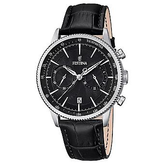 Festina Watch for Analog Quartz Men with Cowhide Bracelet F16893/4