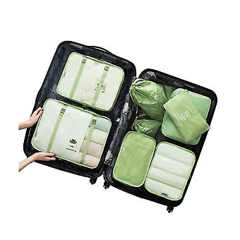 8PCS Cubes Travel Storage L'organisateur de bagages Matcha Green
