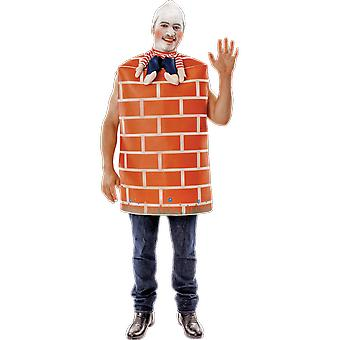 Orion kostuums mens Humpty Dumpty baksteen muur nieuwigheid fancy dress kostuum
