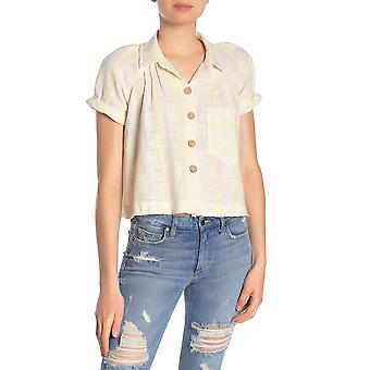 We The Free By Free People | Away at Sea Striped Frayed-Hem Shirt