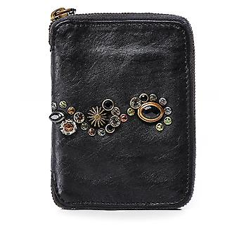 Campomaggi Embellished Leather Zip Around Wallet
