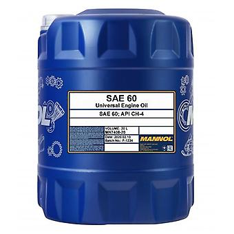 Mannol 20L Monograde Engine Oil Pour Heavy Load Classic Cars SAE 60 API CH-4