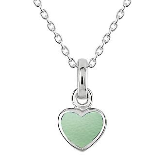 Dew Sterling Silver Dinky Green Mother Of Pearl Heart Pendant 90632GMP
