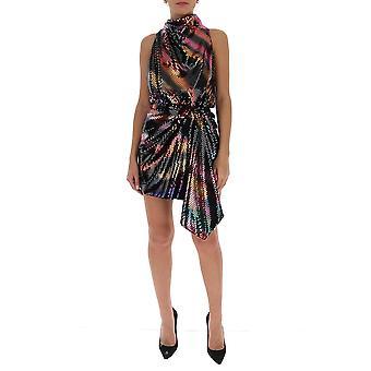Attico 202wca03p035021 Frauen's Multicolor Acetat Kleid