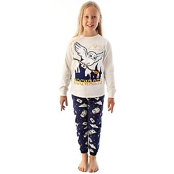 Harry Potter Pyjamas Mädchen Hedwig Langarm T-Shirt & Fleece Hose PJ Set