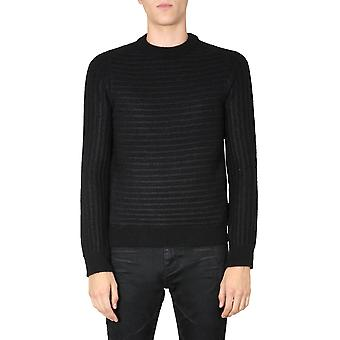 Saint Laurent 631503yarg21000 Men's Svart Ull Tröja