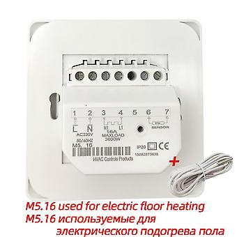 M5 220v 16a 3a Rtc 70 Minco Heat Water Electric Floor Heating Manual Room Thermostat Cable Temperature Controller