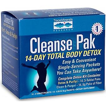 Trace Minerals Cleanse Pak 14-Day Total Body Detox Kit, Part 1 Sample 3 Tab Packet