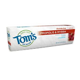 Tom's Of Maine Propolis & Myrrh Fluorure Free Dentifrice, 5,5 Oz