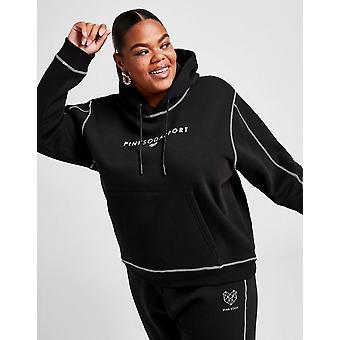 Nieuwe Pink Soda Sport Women's Stitch Boyfriend Plus Size Hoodie Zwart