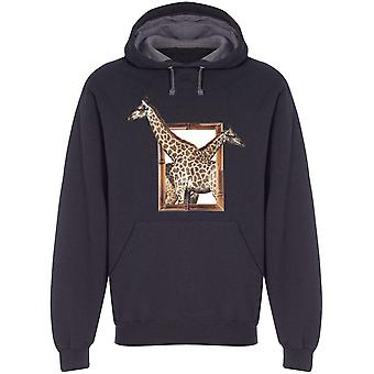 Two Giraffes On Frame H Hoodie Men's -Image by Shutterstock
