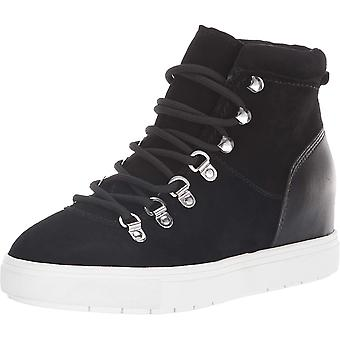 Steven by Steve Madden Womens Kalea Leather Hight Top Lace Up Fashion Sneakers