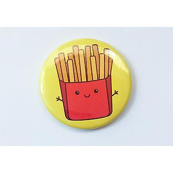 Söpö Kawaii Fries Magnet, Pin tai Taskupeili