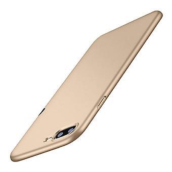 USLION iPhone X מגן דק במיוחד - כיסוי מגן מט קשה זהב