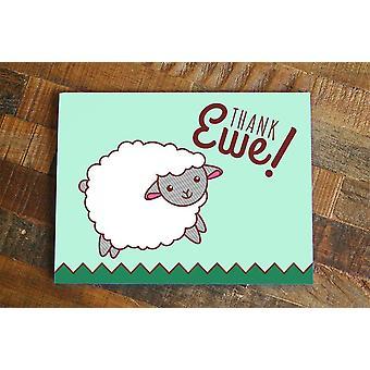 Thank Ewe Sheep Card