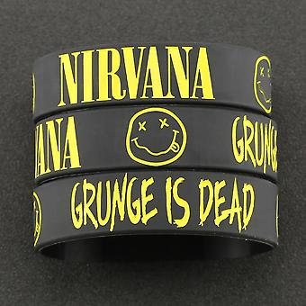 Bracelet Kurt Donald Cobain Rock Band, Hip Hop Bangle, Silicone Wristband,