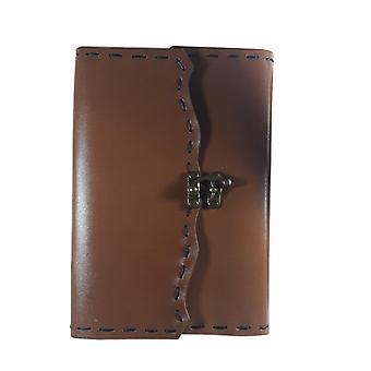 Käsintehty aito nahkainen muistikirjapäiväkirja