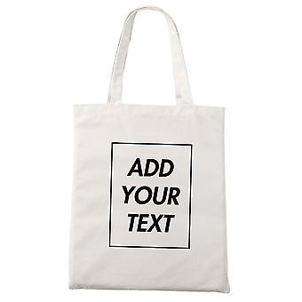 Add Your Text Print Original Design Zipper Unisex Fashion Travel Canvas Bags