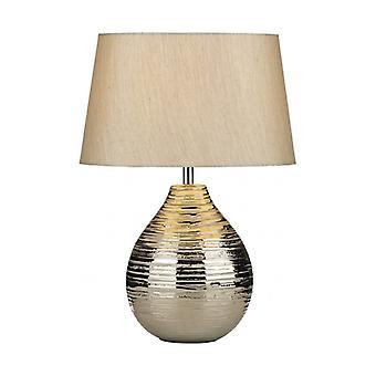 Gustav Tischleuchte Silber 1 Glühbirne