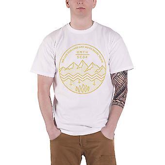 جلب لي الأفق Mens تي قميص أبيض الظل موسى شعار الفرقة الرسمية