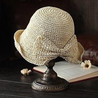 100%raffia Bow Sun Hat Wide Brim Floppy Summer Hats Plaża
