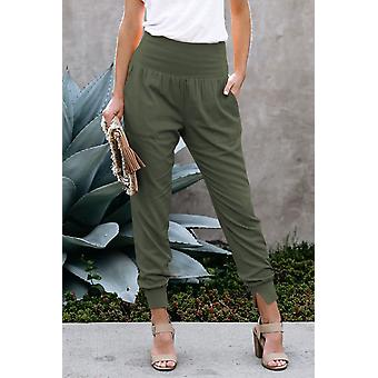 Stretchy High Waistband Cotton Joggers