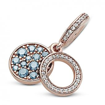 Double Charm Pendant M daillon Blue Sparkling 789186C03 Pandora Jewelry