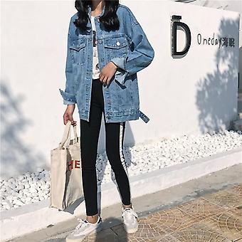 ז'קט ג'ינס ג'ינס אחיד, מעילים משוחררים מזדמנים נקבה, ג'ינס נשי