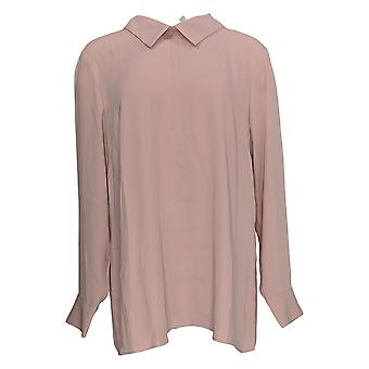 Martha Stewart Mujeres's Top Collared W / Back Button Detail Pink A342525