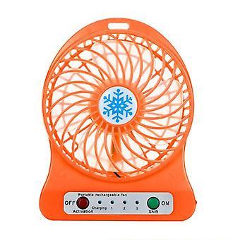 Mini Usb Charging Silent Three-speed Hand Fan With Led Light