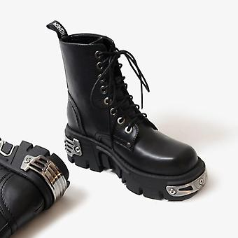 Punk Style Platform Women Ankle Boots For Motorcycle Riding