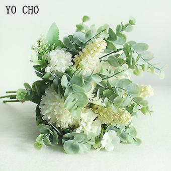 Yo Cho Wedding Bouquet Artificial Silk Crabapple Flower Bridesmaid Bouquet