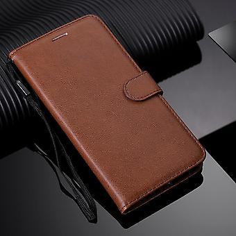 Leder Flip Brieftasche mit Strap Case für Huawei P40 P30 P20 Mate 20 10 P Smart Z