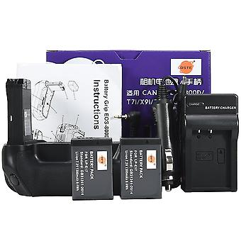 Dste eos-800d battery grip with 2x lp-e17 battery and usb charger for canon eos 800d t7i x9i 77d 900
