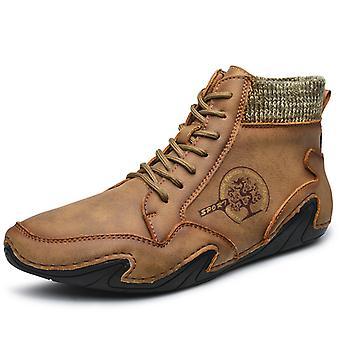 Hombres High Top Zapatos Casual 8899 Khaki