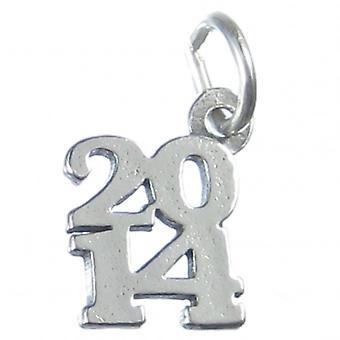 2014 År Sterling Silver Charm 0,925 X 1 år Graduering Fødselsdag Charms - 4191