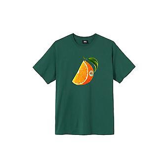 Stussy Orange Slice S/S T-Shirt Green - Clothing