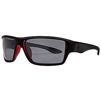 Freedom Rectangular Sport Wrap Sunglasses - Black/Red