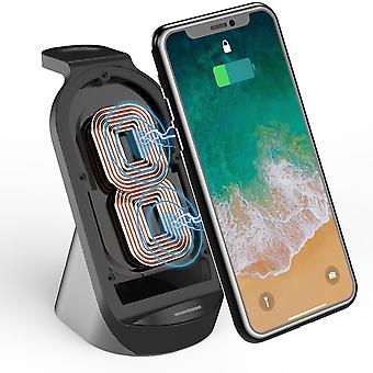 3-In-1 15w qi wireless charger charging stand dock mobile phone desktop holder stand for iphone airpods iwatch