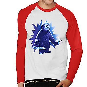 Supercar Mitch The Monkey With Banana Men's Baseball Long Sleeved T-Shirt